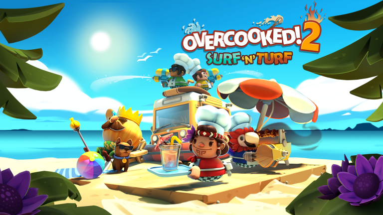 Overcooked 2 goes to the beach in a new Surf 'N' Turf DLC